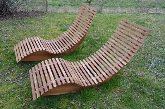 Gartenliege Saunaliege Holzliege Relax Liege Terrasse (Furniture - relaxliege holz bauanleitung