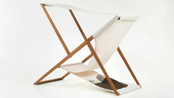 XZ Deck Chair by Numen - has sunshade, bottle pocket