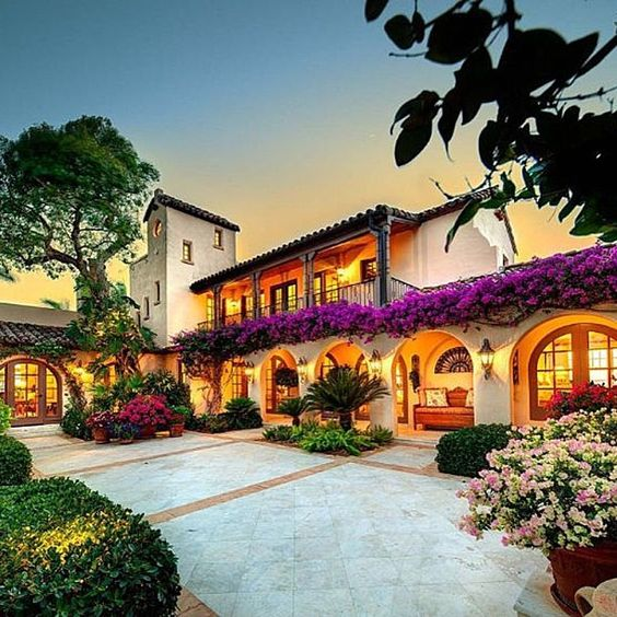Contemporary Mediterranean House A Private Paradise: Spanish-style Villa Built In The 1920's On It's Own