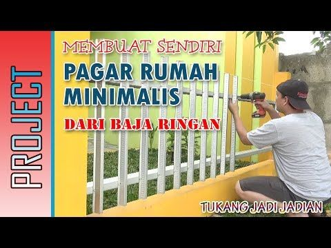MEMBUAT PAGAR RUMAH MINIMALIS Dari BAJA RINGAN, Murah Dan Kokoh...!!! -  YouTube | Pagar, Rumah Minimalis, Desain
