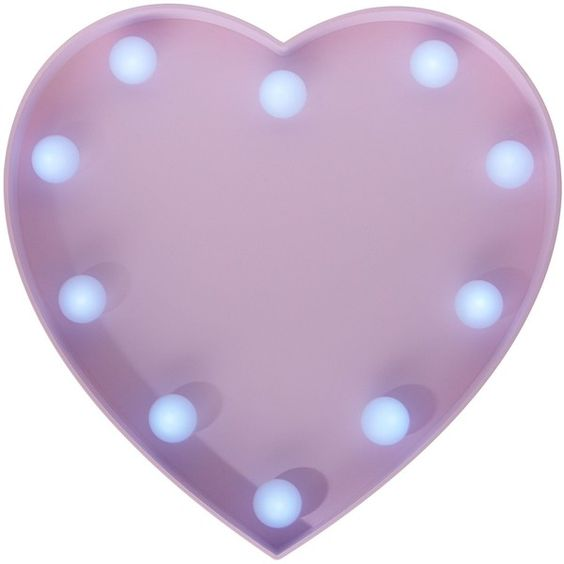 new look pink led lights heart plaque 14 liked on polyvore featuring home battery operated home lighting