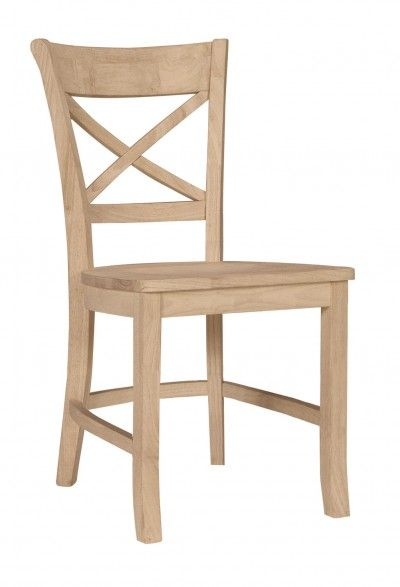 Parawood Charlotte X Back Chair  RTA  UNFINISHED FURNITURE   Real Solid  Wood Furniture. Unfinished furniture  Solid wood furniture and Wood furniture on