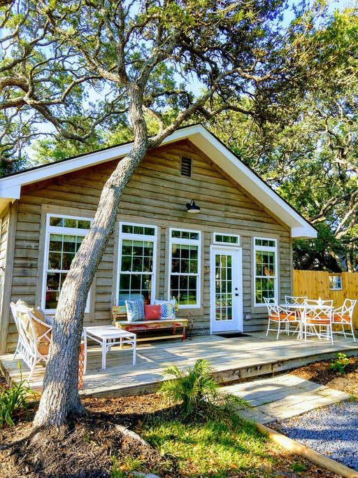 Whimsy Cottage By The Sea Oceanview Fenced Yard Cottages For Rent In Oak Island North Carolina United State Fenced In Yard Cottages By The Sea Oak Island