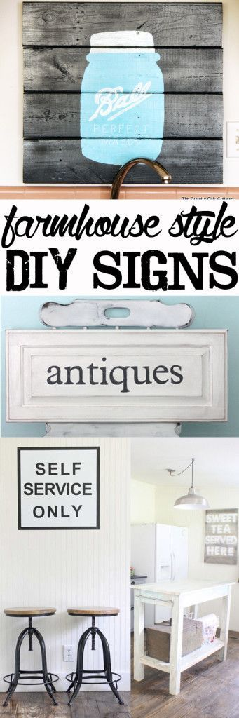 Make Your Own Farmhouse Style Diy Signs Signs Make Your