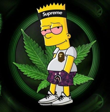 56 Ideas For Wall Paper Cool Supreme Simpson Wallpaper Iphone Simpsons Drawings Bart Simpson Art
