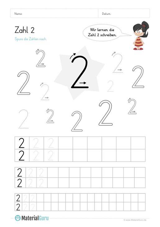Zahlen schreiben lernen