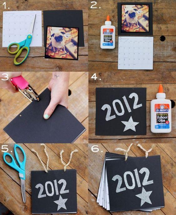 Homemade Calendars With Photos : Make your own instagram photo calendar diy ideas