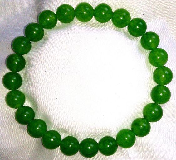 Peridot Heilstein Perlen Armband