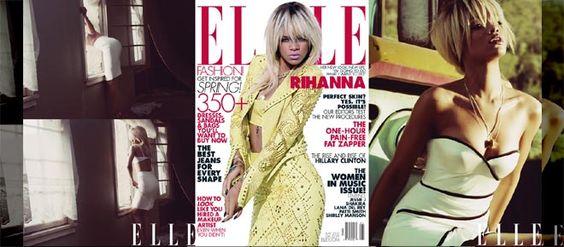 Rihanna con estilo clásico pero sensual para la nueva Elle