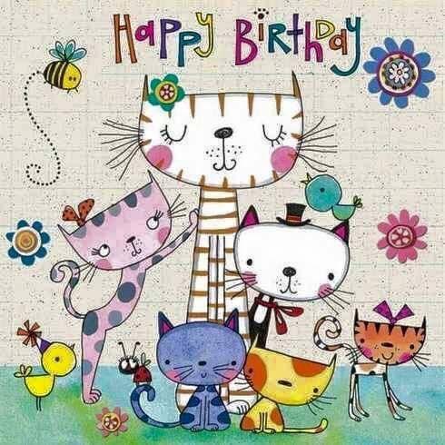 Pin By D Maxwell On Arty Katz Happy Birthday Cat Happy Birthday Cards Happy Birthday Greetings