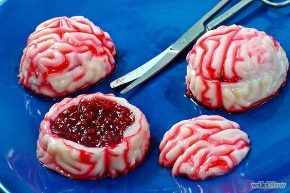 2014 Halloween Zombie Brains Jello Shots Making Tutorial - raspberries, vodka