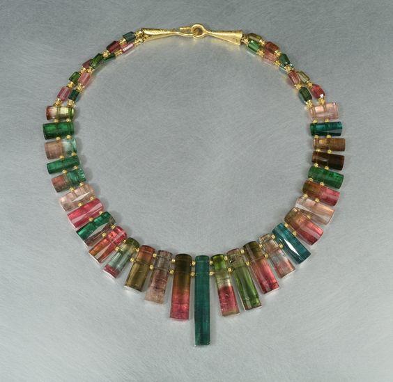 watermelon tourmaline earrings | Summer – Color Cool Fun: Gemstone Design Jewelry | THPFashion Blog: