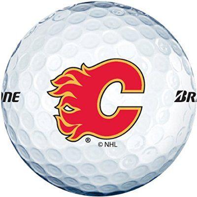 Bridgestone NHL e6 Golf Balls CLOSEOUT Flames 1 Dozen White