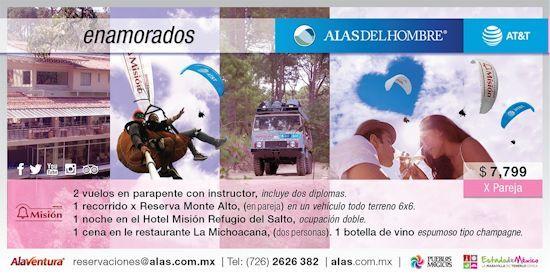 Valle de Bravo, Vuelo en Parapente, Tours y Recorridos, Escuela de Vuelo | Alas del Hombre | Alaventura