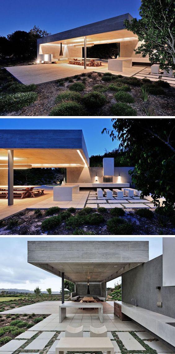 Aménagement extérieur maison : terrasse avec sol en dalles de ...