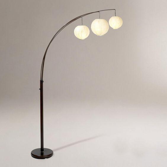 World Market Floor Lamp: Rotating Spheres Arc Floor Lamp | World Market,Lighting