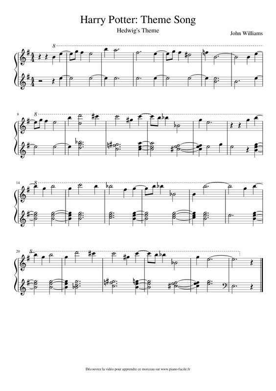 Unforgettable image pertaining to harry potter theme song sheet music for piano free printable