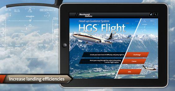 Rockwell Collins Flight SIM iPad App by Dan Ferguson, via Behance