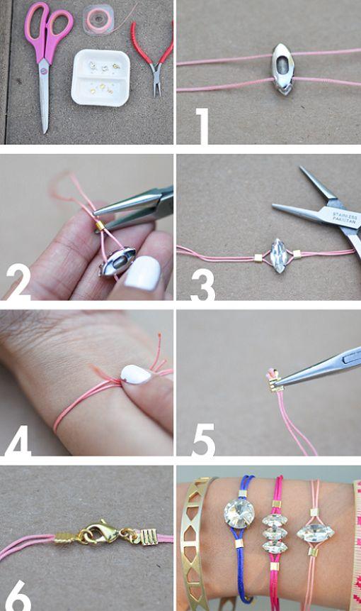 Hacer pulseras de hilo y abalorios - Pulserasdiy
