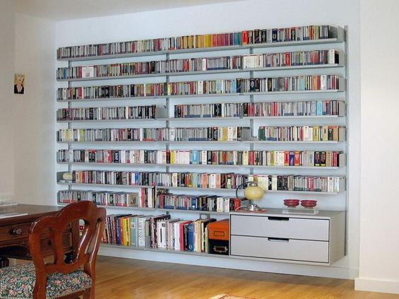 living room with bookshelves best ideas about shelves cds wall mounted bookshelves and 15936