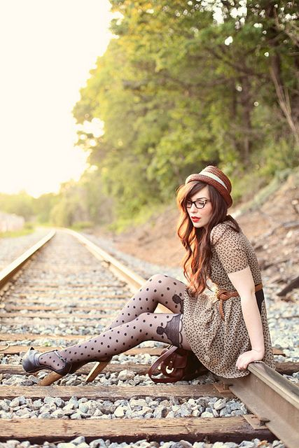 Those tights are so hot! | railroad by keikolynnsogreat, via Flickr