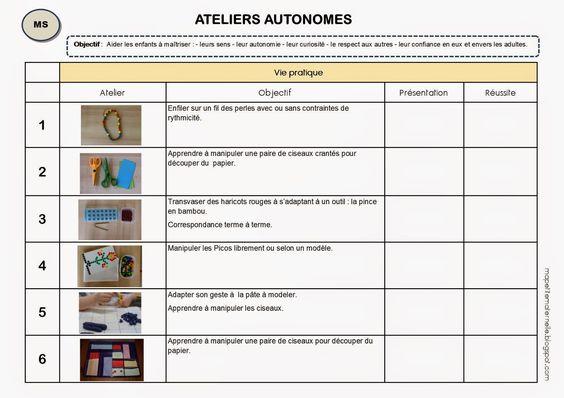 Livret élève pour les ateliers autonomes de type Montessori, idée à creuser pour la prochaine année.