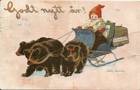 Annons på Tradera: Jenny Nyström postgånget 1906