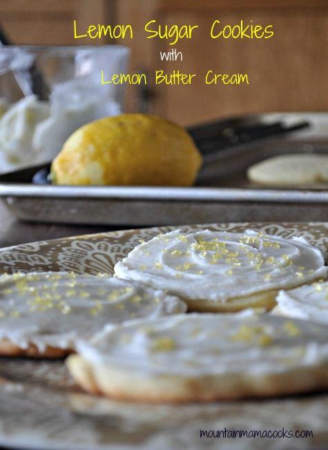 Lemon Sugar Cookies from @Mountain Mama Cooks