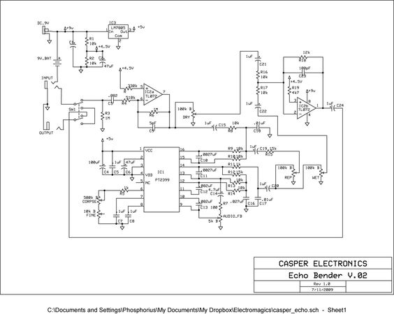 PT2399 schematic. Got to make something since I have 10+ of those.