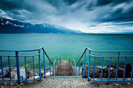 Tour-de-Peilz, Lac Léman, Switzerland