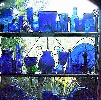 Blue Cobalt Glass Display