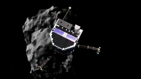 The descent of Philae towards Comet 67P/Churyumov–Gerasimenko on 12 November 2014, as if we are riding with the lander. The animation begins with Philae bein...