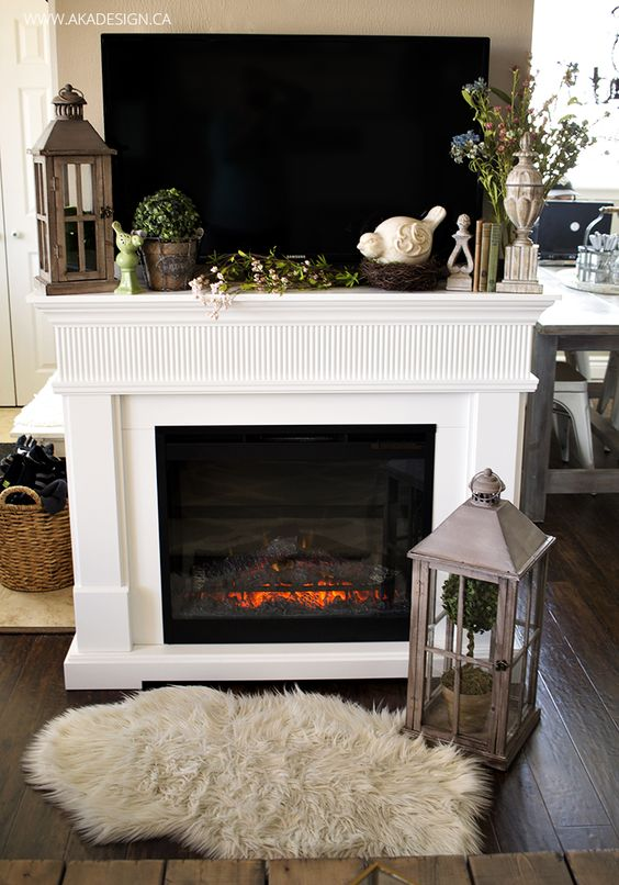 Home Tours Fireplaces And Mantels On Pinterest