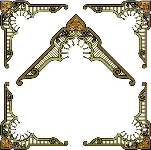 Corner ImagesBrown Gold  Olive GreenEtched Vinyl Stained - Custom vinyl decals for glass   removal options