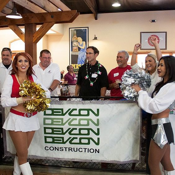 NFL cheerleaders at charity event
