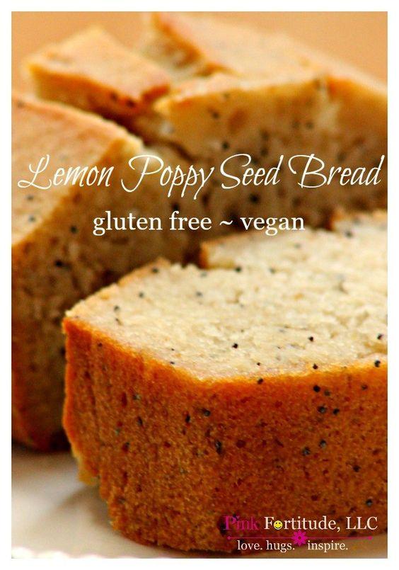 Lemon Poppy Seed Bread ~ Gluten Free/Vegan | Poppy Seed Bread, Lemon ...
