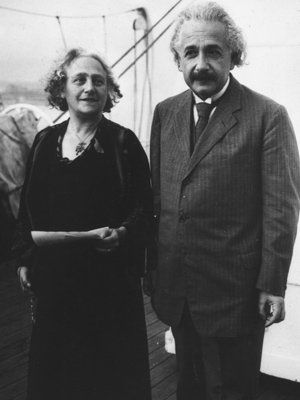 Albert Einstein & his wife Elsa in 1919. They were first cousins.