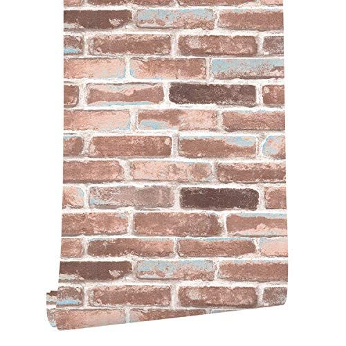 Haokhome H018 Faux Brick Wallpaper Peel And Stick Rust Re Https Www Dp B072kk5c51 Ref Cm Sw R P Faux Brick Wallpaper Brick Wallpaper Faux Brick
