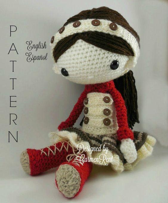 Olivia - Amigurumi Doll Crochet Pattern PDF