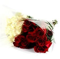 Wedding Pack - Red & White Roses - 100 Stems (Sam's Club)