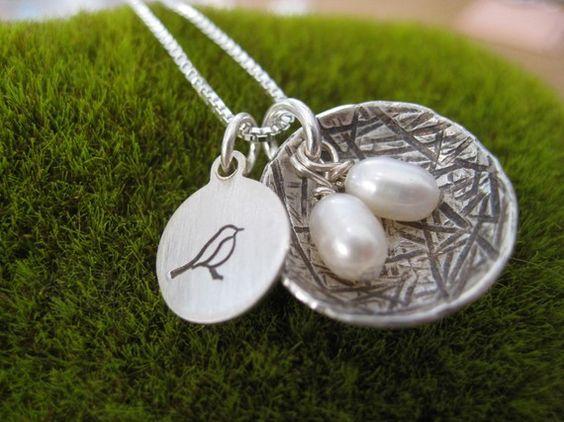 Mama Bird nest necklace.