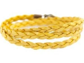Braided Wrap in Yellow $17.00