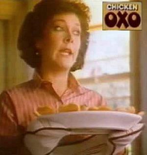 Lynda Bellingham in the 1980s OXO cube TV Adverts