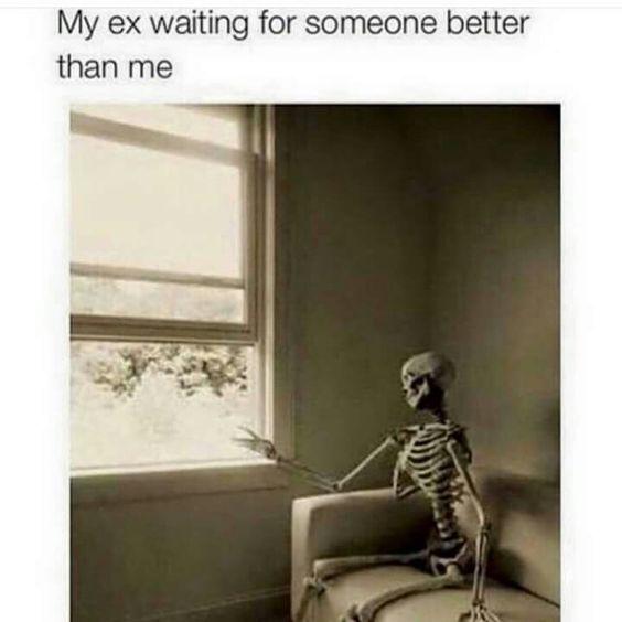 My ex waiting