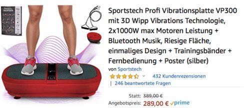Sportstech Profi Vibrationsplatte Vp300 Mit 3d Wipp Vibrations Technologie Dunkelrot Vibrationsplatte Technologie Wippe