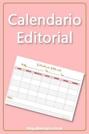 Descarga el calendario editorial para tu blog totalmente GRATIS