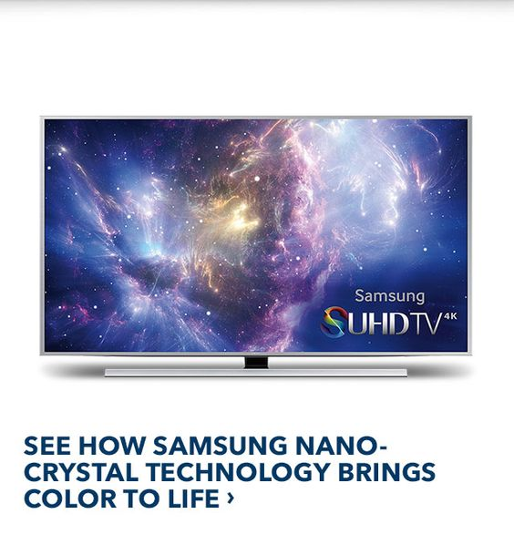SEE HOW SAMSUNG NANO-CRYSTAL TECHNOLOGY BRINGS COLOR TO LIFE ›
