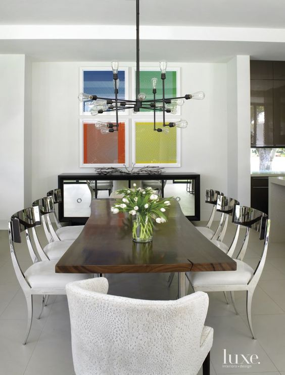 Industrial Light Fixtures Light Fixtures And White Dining Rooms On Pinterest