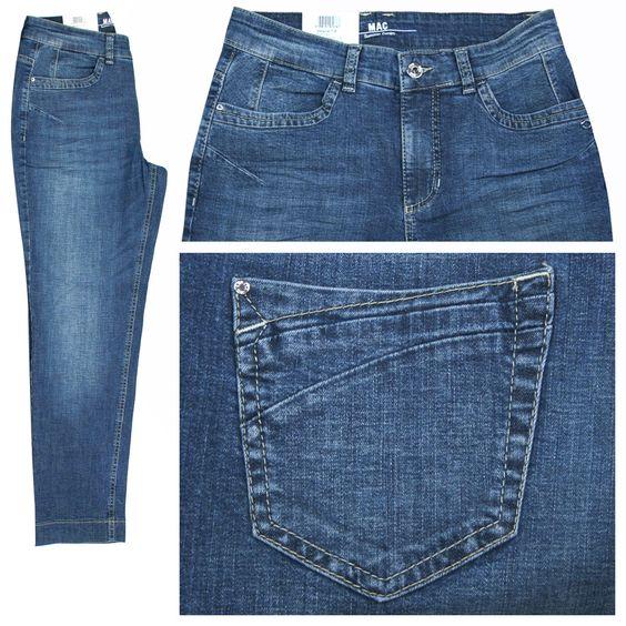 MAC Stretch Damen 7/8 Jeans / Form: Melanie Pipe Fresh / Farbe: mittelblau verwaschen - FarbNr.: D601 / im MAC Jeans Online Shop