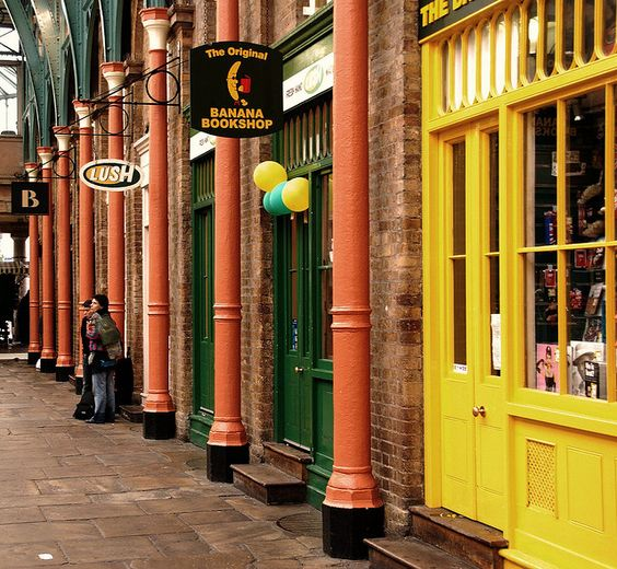The Original Banana Bookshop ...  Covent Garden, London, England, Great Britain by Franz St. via flickr